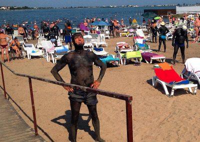 la plaja Baile Reci Lacul Techirghiol