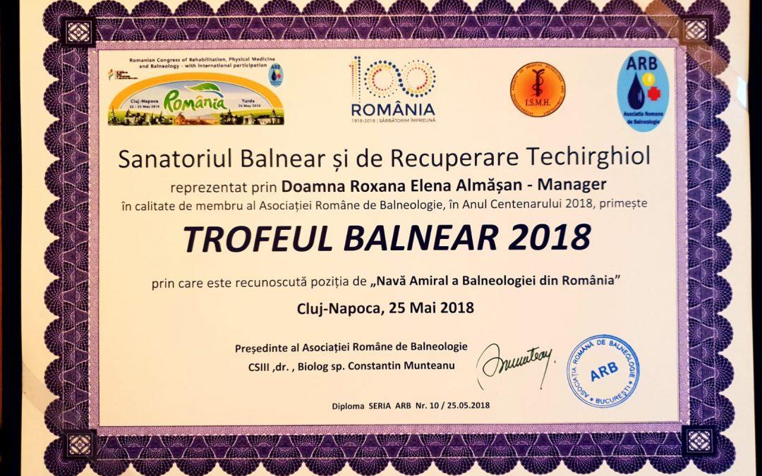 """Sanatoriul Balnear și de Recuperare Techirghiol primește titlul de """"Nava Amiral a Balneologiei din Romania"""""""