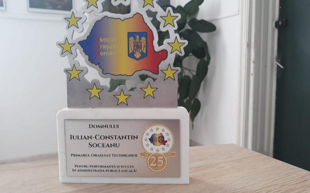 Premiul pentru performanță și succes în administrația publică pentru primarul Iulian-Constantin Soceanu