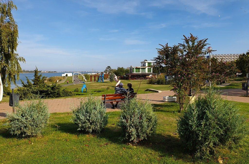 Relaxare si aerosoli pe faleza lacului Techirghiol