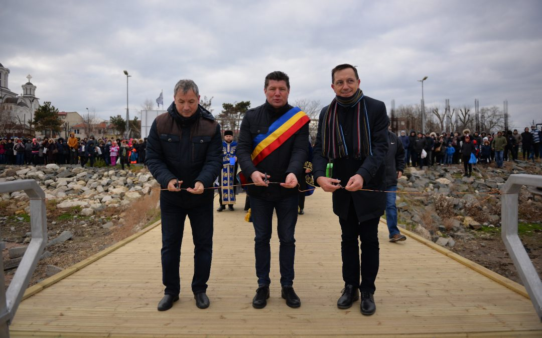 Inaugurarea oficiala a noului ponton de agrement de pe Lacul Techirghiol