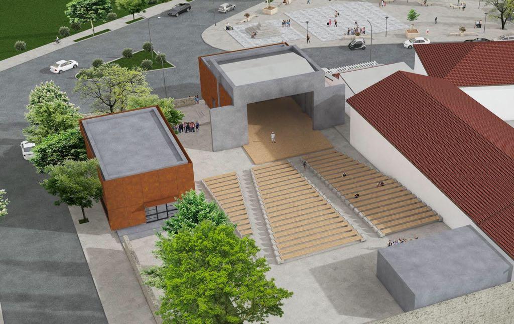 """Proiectul """"Modernizarea și extinderea Teatrul de Vară și reabilitarea trotuarelor din zona adiacentă"""" este in plina desfasurare"""