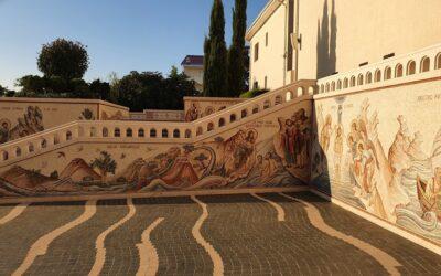 Noul mozaic de la Manastirea Sfanta Maria Techirghiol