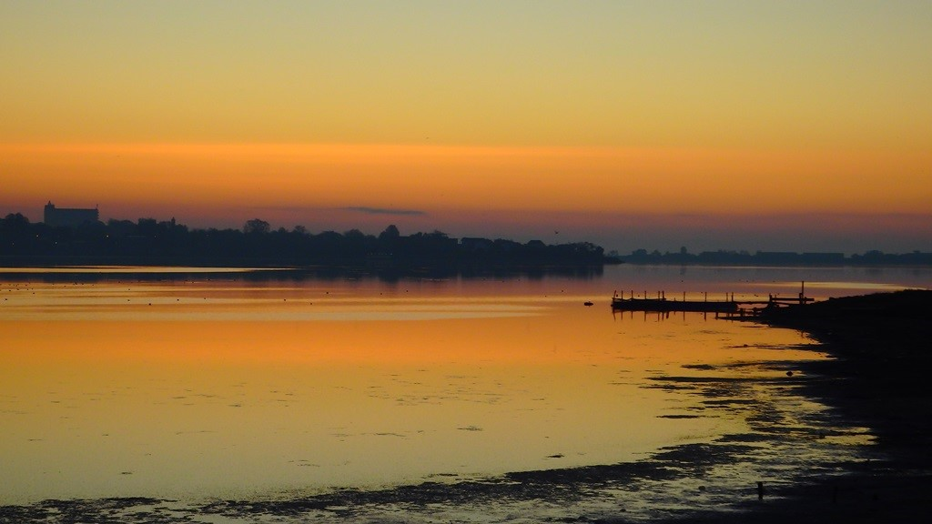 VIDEO: rasarit de soare pe Lacul Techirghiol