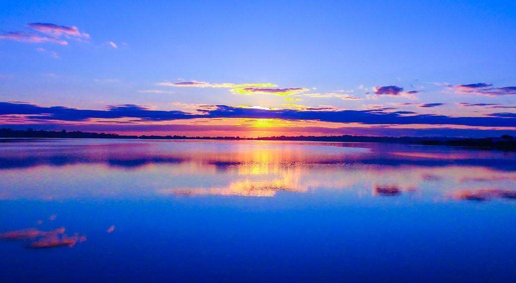 Rasarit de octombrie pe Lacul Techirghiol